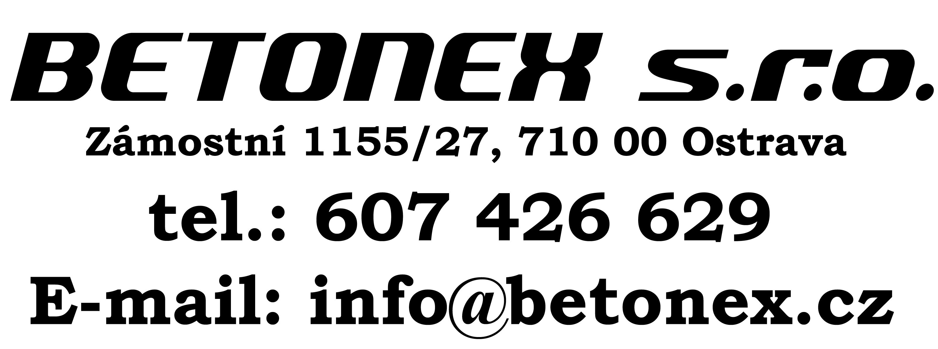 BETONEX - Kontakt