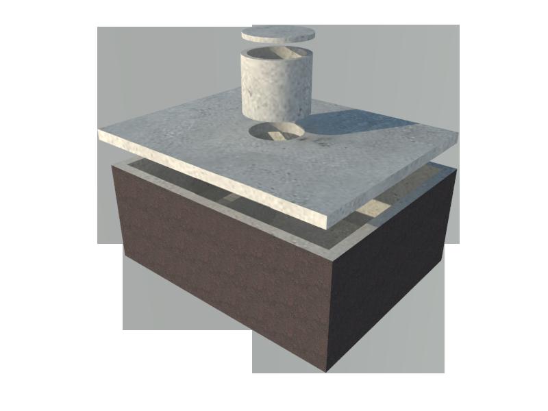 Dvoukomorová betonová jímka